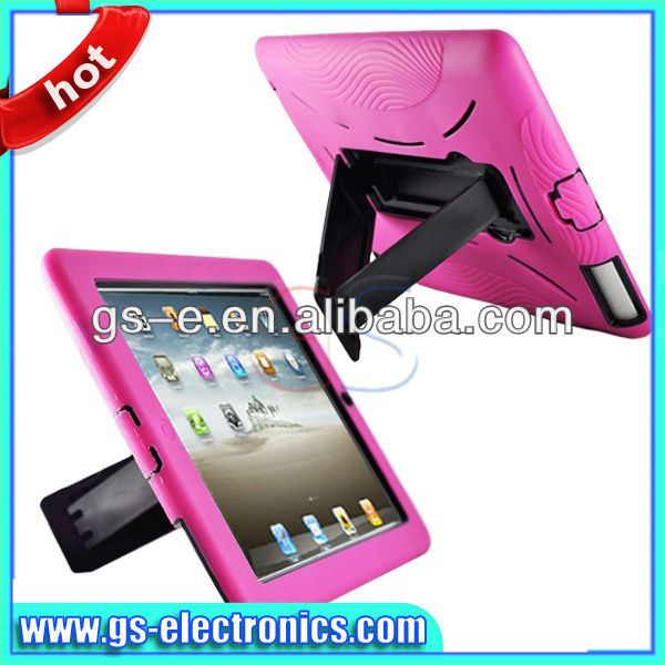 Fashionable pu leather case for ipad 2/3/4, tablet pc case with stand