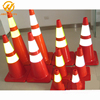 Road Safety Equipment Soft Flexible PVC 28 Inch Traffic Plastic Cone