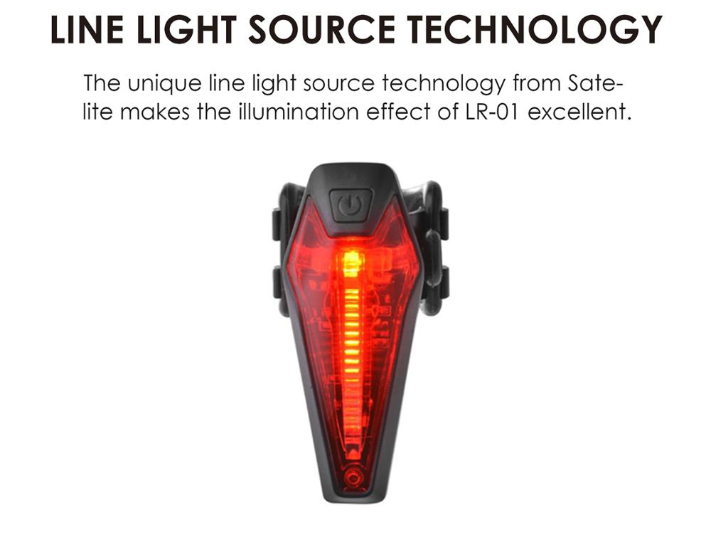 2018 Sate-Lite bike light with StVZO Germany K mark , USB rechargeable bike tail light rear Light LR-01