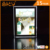 Windows wall A4 hanging acrylic photo picture frame / led crystal light box for display