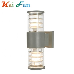 sports shoes bfdd0 8522a Modern cube led glass boundary landscape wall lamp fixtures