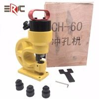 CH-60 press manual hand busbar copper aluminum steel metal sheet hole punch tool hydraulic puncher punching machine