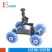 NEWER Tabletop Mobile Rolling Slider Dolly Car Skater Video Track Rail Camera