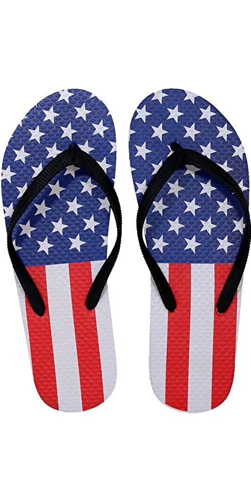 3f4291abe42fc Get Quotations · SLR Brands Women s American Flag Flip Flops Rubber Thong  USA Flip Flop Sandal For Women
