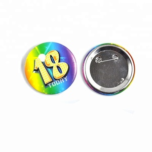 Wholesale price badge making supplies button badge pin back 38mm