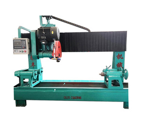 Round pillar lathe stone solid column pillar cutting machine for marble granite