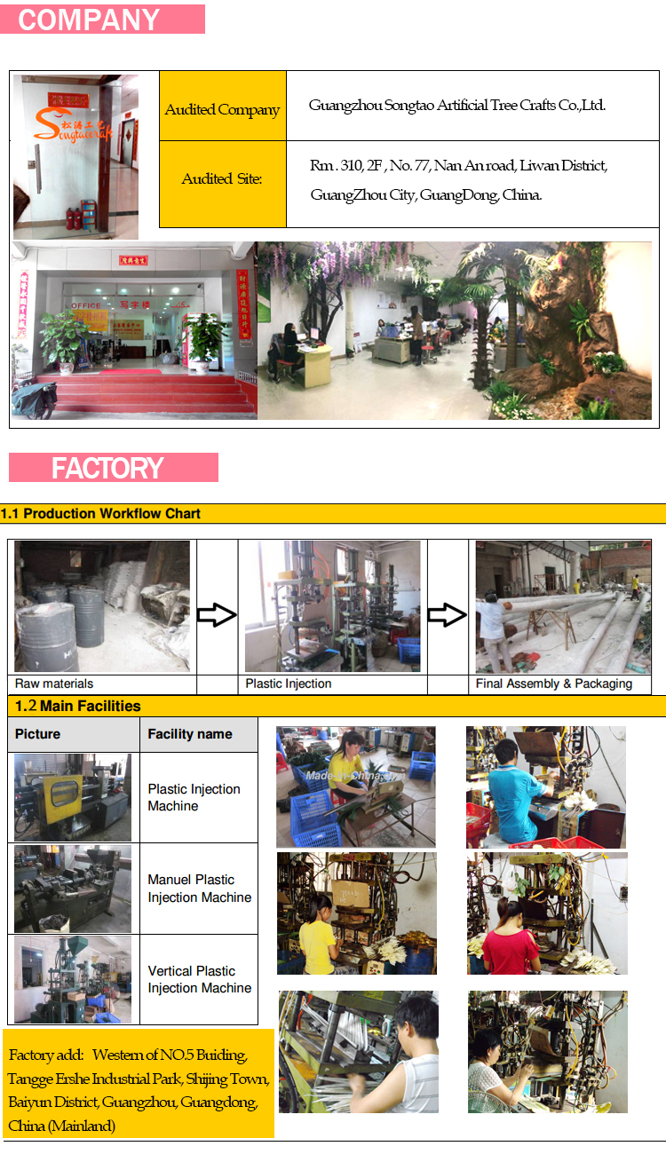 New Products China Supplier Artificial Trees Flowers Cherry Peach ...