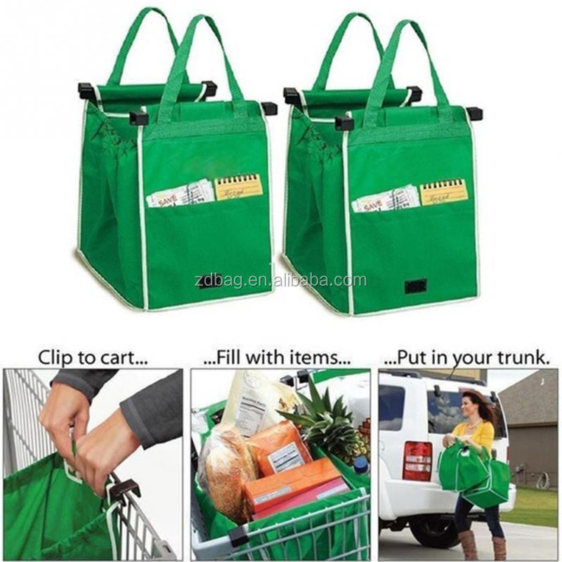 Reusable nonwoven grab bag for supermarket shopping tote bag