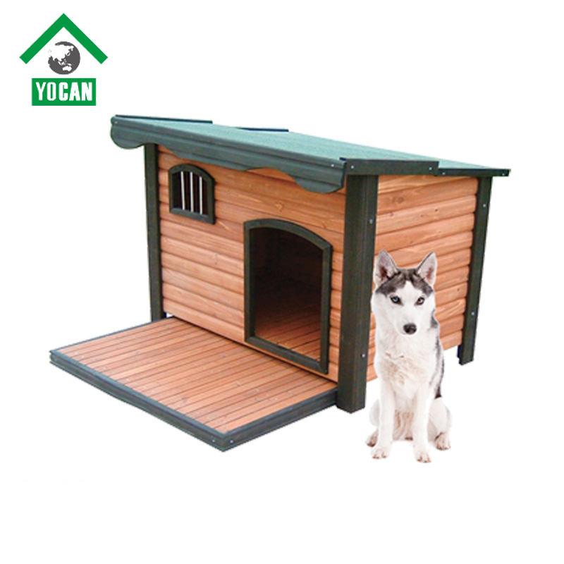 YOCAN Pet Products outdoor large dog house wood