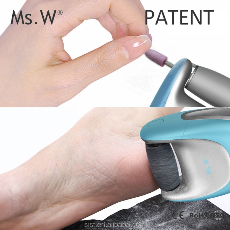 2017 New Products Looking for Distributor Ms.W Pedicure Skin Care Tools Machine Feet Dead Removal Electric Foot Exfoliator