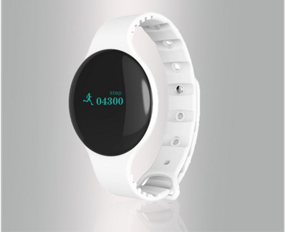 JackS@ H8 Bluetooth Smart Bracelet Band Sport Fitness Wristband w/ Pedometer Step Calories Count Sleep Monitor Health Fitness Tracker (H8-BTSH-WT)