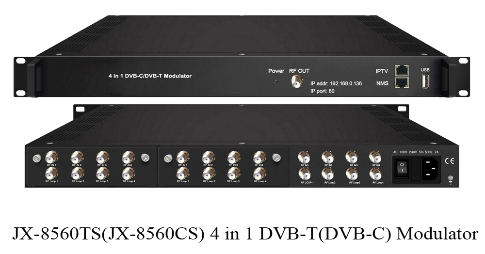 Satellite channels to DVB-C DVB-T RF Modulator