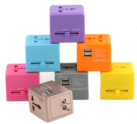 Travel Adapter 2 USB Wall Portable Electrical Socket USB 250v Outlet