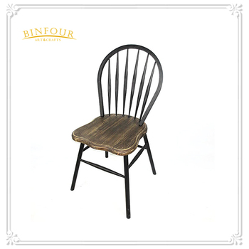 Metal iron antique appearance peacock chair or cafe chair for Metal living room chairs