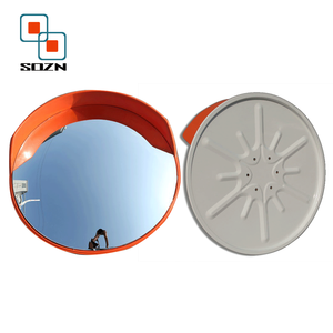 Acrylic material road traffic security indoor large PC convex mirror with brackets
