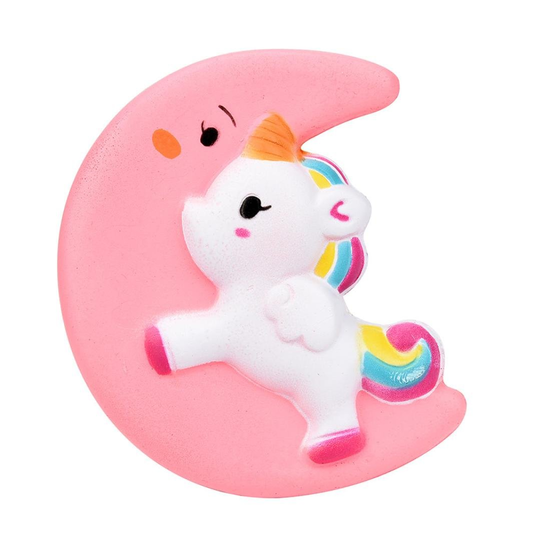 Slow Rising Toy, kevan Squishy Cute Moon Unicorn Scented Cream Slow Rising Squeeze Decompression Toys As A Gift For You or Your Kids