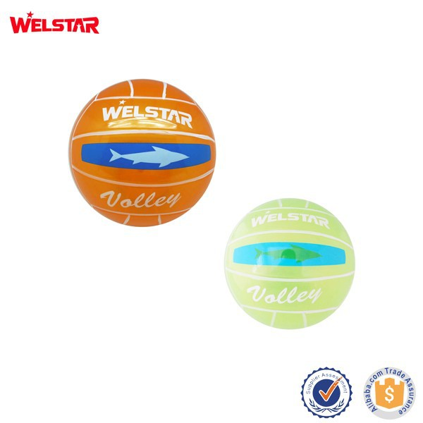 Custom Logo PVC Toys LED Small Water Ball Children Volleyball for Promotion