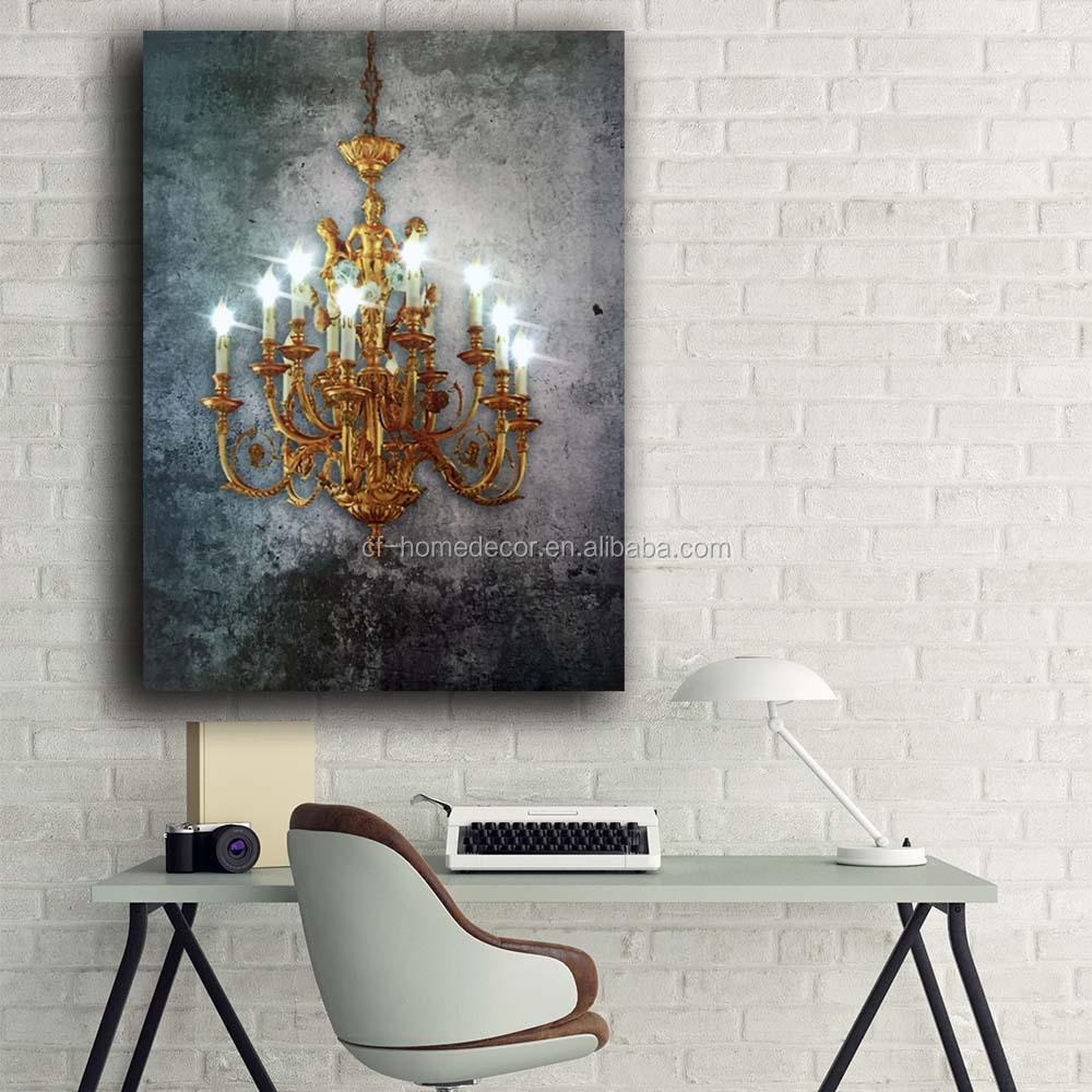 Led wall druck Elegant und gnade Europa gold kristallines leinwand ...