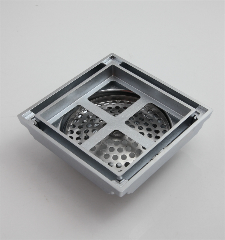 Ningbo China Supplier Tile Insert Square Floor Waste Grate Bathroom