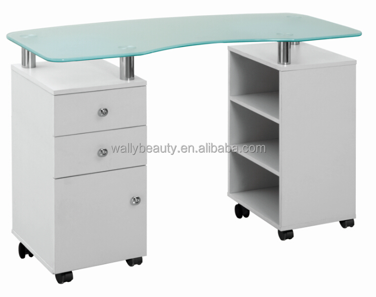 Wholesale glass manicure table for nail salon use buy for Long manicure table