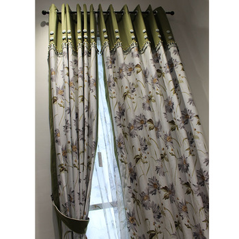 Manufacture Wholesale Wooden Ready Made Curtain For Philippines Living Room