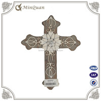 Handmade Carved Wooden Wall Cross Decoration