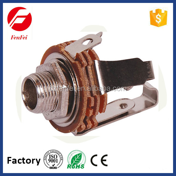 high level 6.35mm stereo jack closed circuit