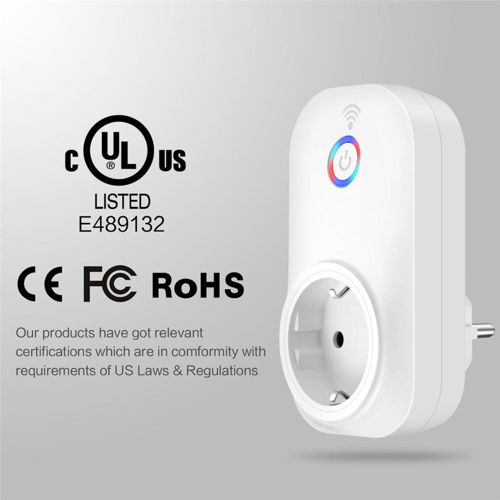 IoT Smart WIFI Plug Wireless wifi socket switch remote control smart plug alexa and google home supporting