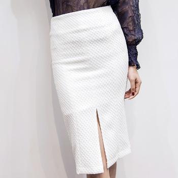 ac5fcde26b VVY22 Nova Moda Mulher Saia Branca Elegante Envoltório Saia Lápis Saia  Longa Modelos
