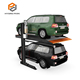 Single post garage auto parking car lift for 2 cars