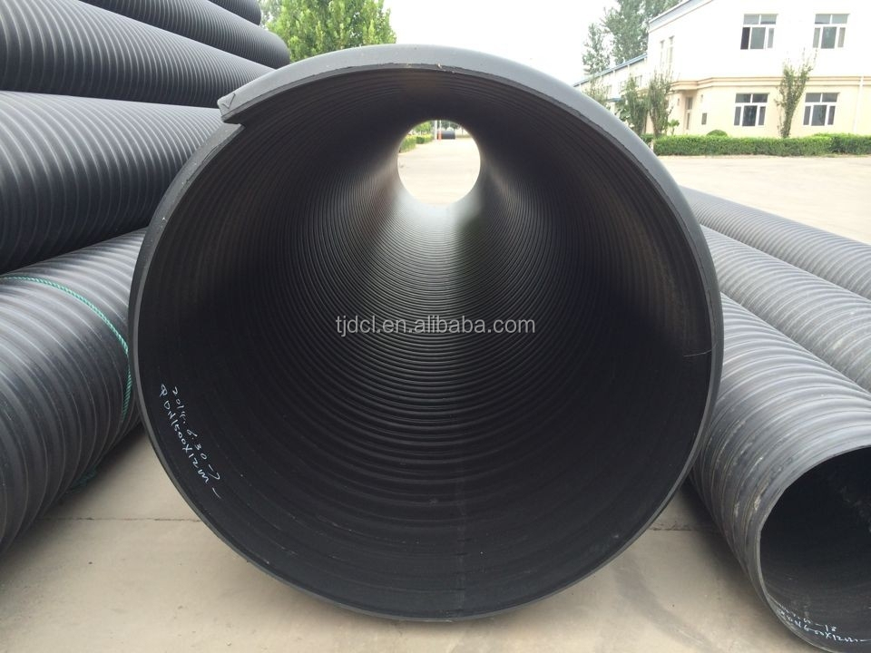 Hdpe Corrugated Pipe Steel Belt Steel Band Reinforced Pipe/double ...