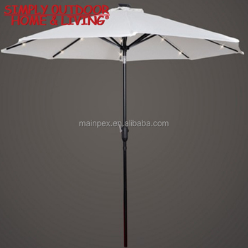 High Quality Garden Beach Patio Holiday Sun Shade Led Light Umbrella