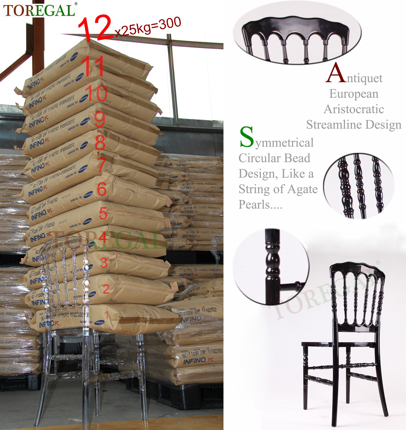 Good quality Best Price Gold Resin Napoleon Chair
