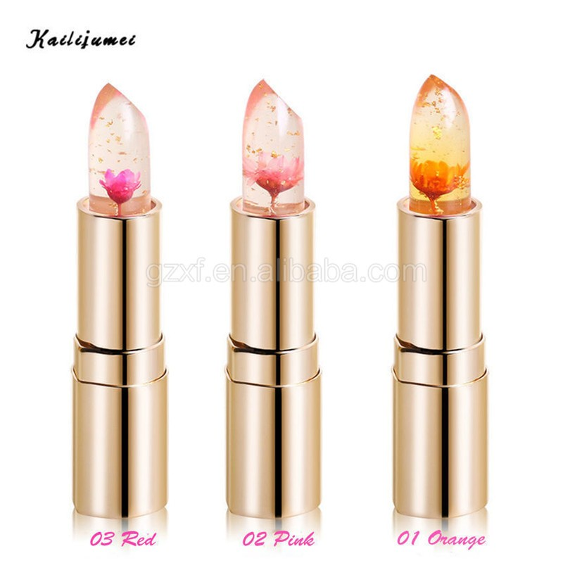 Original Kailijumei Transparent Flower Jelly Lipstick Temperature ...
