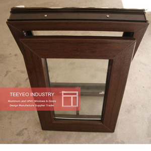 Teeyeo double glazed wood grain aluminum awning top hung window