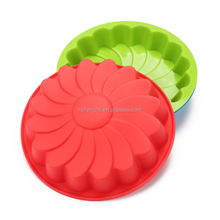 Household Heat Resistant Flower Bread Pie Flan Tart Birthday Party Baking Silicon Cake Mold