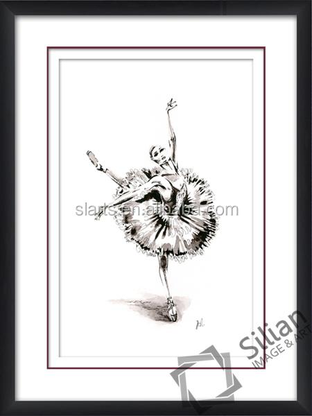 Spiksplinternieuw Ballerina Tekening Kunst Schilderij - Buy Dansende Dame Foto's JG-66