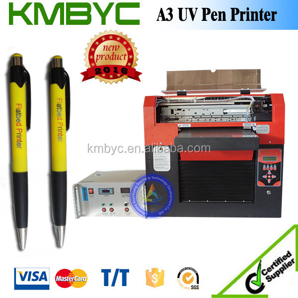 White ink pen printer/uv flatbed printer machine to print on pens