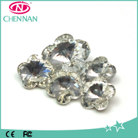 Pujiang Wholesale Fashion white Garment Accessories flower rhinestone Beads