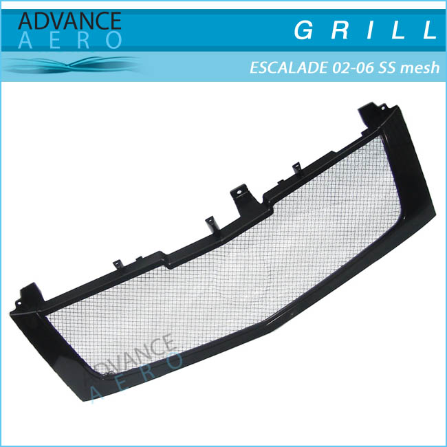 FOR 02-06 CADILLAC ESCALADE Z BLACK MESH HOOD GRILLE GRILL