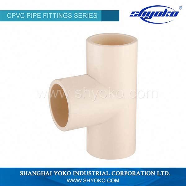 Best selling durable using CPVC plastic tee joint