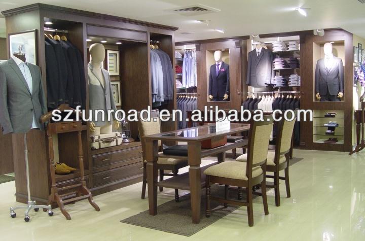 Carpintería shenzhen familia oriental mdf hombres clothes vitrina ...