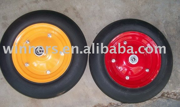 Hot sall wheelbarrow solid wheel 14*4