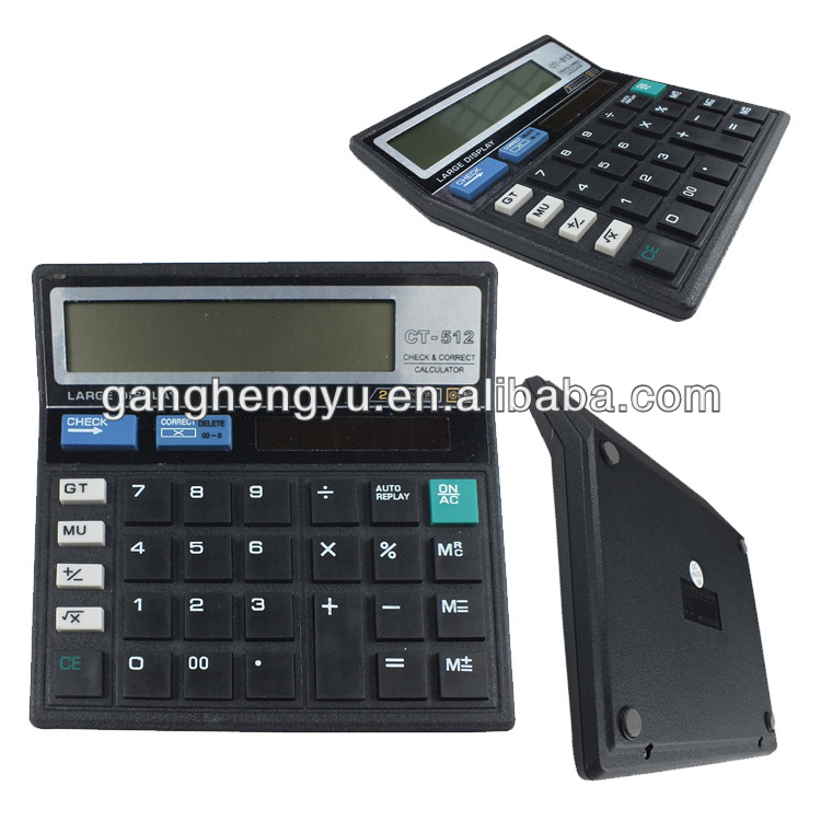 India hot sale 112 steps check correct office big calculator CT-512