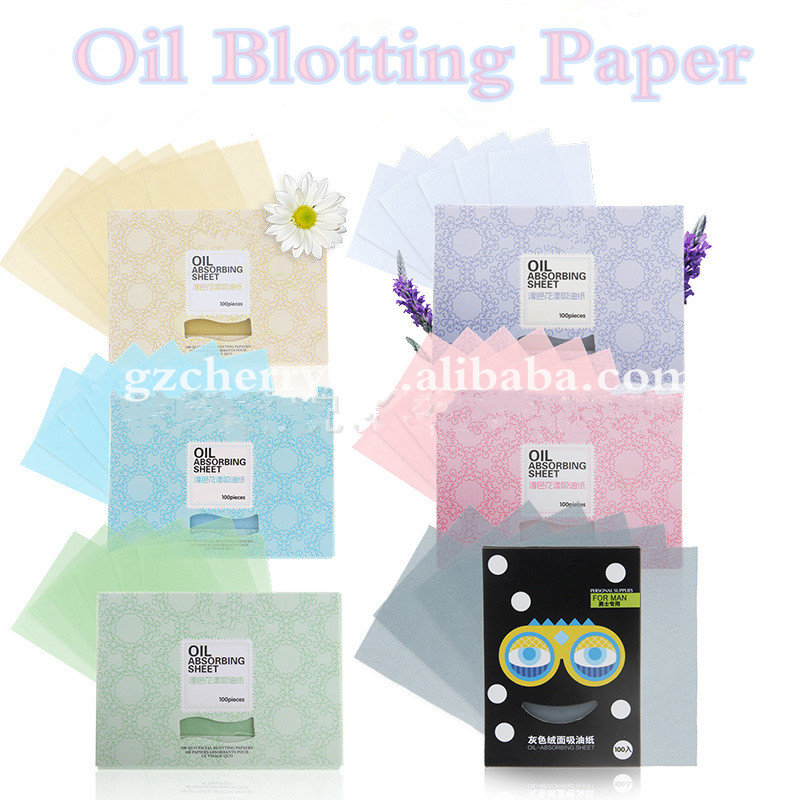 100 Sheets Facial Oil Absorbent Control Blotters Blotting Paper Tissue