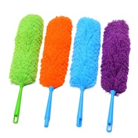 High Quality Microfiber Flexible Fluffy colored Feather Duster with Hanging Pole