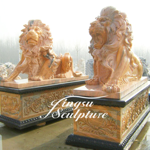 Low Price Popular Design Life-size Marble Lion Statue
