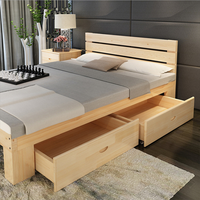 Modern Design wood simple latest double bed designs