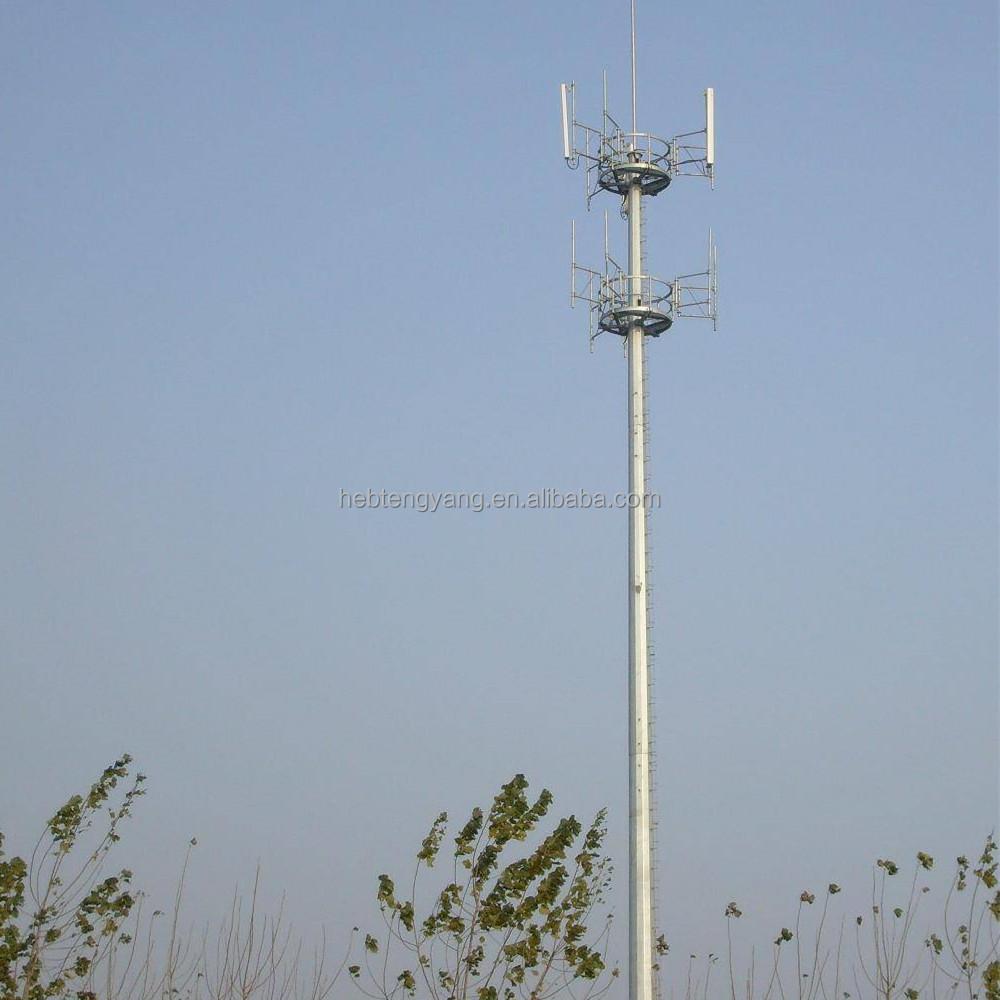 High Pole Type Antenna Radome With Fiberglass/telecommunication Antenna  Tower/rooftop Tower - Buy Telecommunication Antenna Tower,Rooftop
