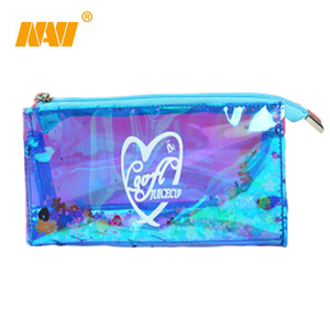 promotional custom printed school pen bag pvc stationery pen case